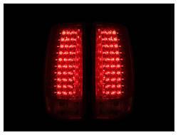 Anzo USA - Anzo USA 311140 Chrome LED Tail Light Set-Red/Clear Lens - Image 2
