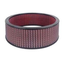 """Airaid - Airaid 800-417 Round Performance Air Filter; 16""""OD x 5.0"""" H; Red Cotton - Image 1"""
