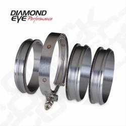 "Diamond Eye - Diamond Eye QC400-3 4"" Quick Connect Couplers-3 CNC Machined Flanges & 1 V-band - Image 1"