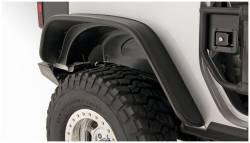 Bushwacker - Bushwacker 10052-07 Flat Style Rear Fender Flares-Black - Image 1