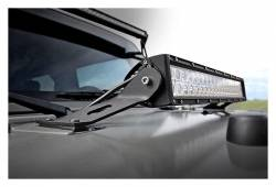 """Rough Country Suspension Systems - Rough Country 70533 20"""" LED Light Bar Hood Mounting Brackets - Image 3"""