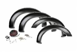Rough Country Suspension Systems - Rough Country F-D10911 Pocket Style Fender Flares w/ Rivets fits Chrome Bumper Models - Image 1