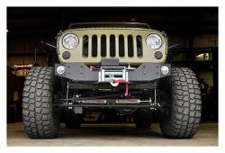 Rough Country Suspension Systems - Rough Country 1062 Hybrid Stubby Front Winch Mount Bumper w/ Fog Light Mounts - Image 2
