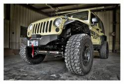 Rough Country Suspension Systems - Rough Country 1059 Hybrid Stubby Front Winch Mount Bumper - Image 2