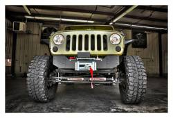Rough Country Suspension Systems - Rough Country 1059 Hybrid Stubby Front Winch Mount Bumper - Image 3