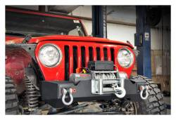 Rough Country Suspension Systems - Rough Country 1012 High Clearance Stubby Front Winch Mount Bumper - Image 2