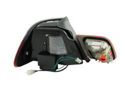 Anzo USA - Anzo USA 321186 Chrome LED Tail Light Set-Red/Smoke Lens - Image 2
