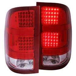 Anzo USA - Anzo USA 311089 Chrome LED Tail Light Set-Red/Clear Lens - Image 1