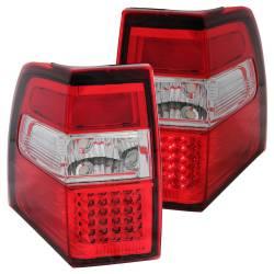 Anzo USA - Anzo USA 311108 Chrome LED Tail Light Set-Red/Clear Lens - Image 1