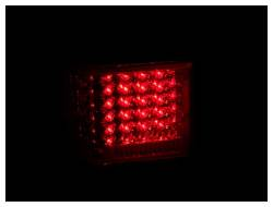 Anzo USA - Anzo USA 311108 Chrome LED Tail Light Set-Red/Clear Lens - Image 2