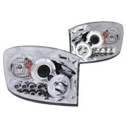 Anzo USA - Anzo USA 111103 Projector Headlight Set w/ CCFL Halo-Chrome - Image 1