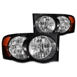 Anzo USA - Anzo USA 111022 Crystal Headlight Set-Black - Image 1