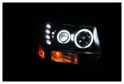 Anzo USA - Anzo USA 111109 Projector Headlight Set w/ CCFL Halo-Black - Image 2