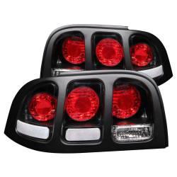 Anzo USA - Anzo USA 221020 Black Euro Tail Light Set-Clear Lens - Image 1