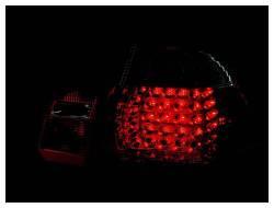 Anzo USA - Anzo USA 321004 Chrome LED Tail Light Set-Red/Clear Lens - Image 2