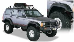 Bushwacker - Bushwacker 10911-07 Cut-Out Front/Rear Fender Flares-Black - Image 1