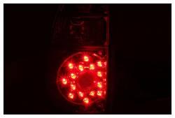 Anzo USA - Anzo USA 311117 Chrome LED Tail Light Set-Red/Clear Lens - Image 2