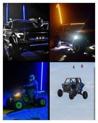 Buggy Whip - Buggy Whip BWLED2AQ 2' LED Safety Offroad Whip Light-Amber, Quick Release Mount - Image 6