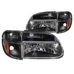 Anzo USA - Anzo USA 111039 Crystal Headlight Set w/ Corners-Black - Image 1