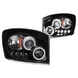 Anzo USA - Anzo USA 111104 Projector Headlight Set w/ CCFL Halo-Black - Image 1