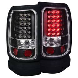 Anzo USA - Anzo USA 311073 Black LED Tail Light Set-Clear Lens - Image 1