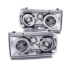Anzo USA - Anzo USA 111092 Headlight Assembly Clear Lens Pair LED Chrome - Image 1