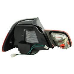 Anzo USA - Anzo USA 321185 Chrome LED Tail Light Set-Red/Clear Lens - Image 2