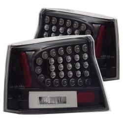 Anzo USA - Anzo USA 321014 Black LED Tail Light Set-Clear Lens - Image 1