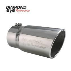 "Diamond Eye - Diamond Eye 5612BRA-DE Tip Bolt-on Rolled Angle Cut-Diamond Eye Logo Embossed 4"" - Image 1"