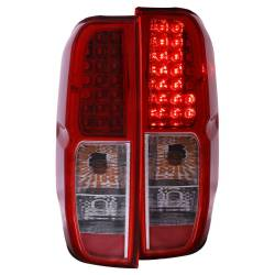 Anzo USA - Anzo USA 311071 Chrome LED Tail Light Set-Red/Clear Lens - Image 1