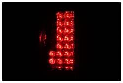 Anzo USA - Anzo USA 311071 Chrome LED Tail Light Set-Red/Clear Lens - Image 2