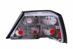 Anzo USA - Anzo USA 221159 Chrome Euro Tail Light Set-Red/Clear Lens - Image 2