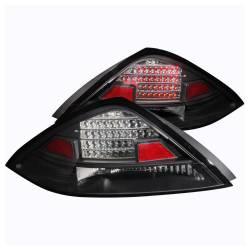 Anzo USA - Anzo USA 321029 Black LED Tail Light Set-Clear Lens - Image 1