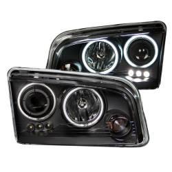 Anzo USA - Anzo USA 121218 Projector Headlight Set w/ CCFL Halo-Black - Image 1