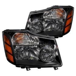 Anzo USA - Anzo USA 111069 Crystal Headlight Set-Black - Image 1
