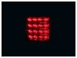 Anzo USA - Anzo USA 311022 Chrome LED Tail Light Set-Red/Clear Lens - Image 2