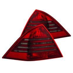 Anzo USA - Anzo USA 221151 Chrome Euro Tail Light Set-Red/Smoke Lens - Image 1