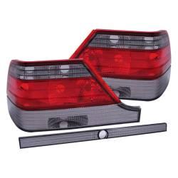 Anzo USA - Anzo USA 221154 Chrome Euro Tail Light Set-Red/Smoke Lens - Image 1