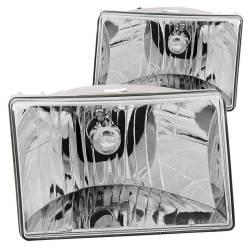 Anzo USA - Anzo USA 111066 Crystal Headlight Set-Chrome - Image 1