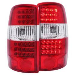 Anzo USA - Anzo USA 311100 Chrome LED Tail Light Set-Red/Clear Lens - Image 1
