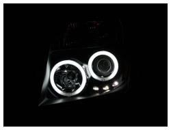 Anzo USA - Anzo USA 111111 Projector Headlight Set w/ CCFL Halo-Black - Image 2