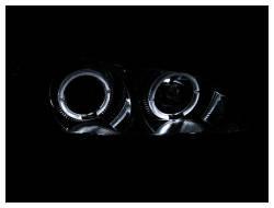Anzo USA - Anzo USA 121078 Projector Headlight Set w/ LED Halo-Chrome - Image 2