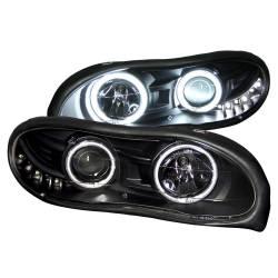 Anzo USA - Anzo USA 121160 Projector Headlight Set w/ CCFL Halo-Black - Image 1