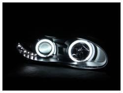 Anzo USA - Anzo USA 121160 Projector Headlight Set w/ CCFL Halo-Black - Image 2