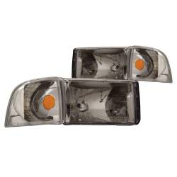 Anzo USA - Anzo USA 111068 Crystal Headlight Set w/ Corners-Chrome - Image 1