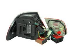 Anzo USA - Anzo USA 321127 Chrome LED Tail Light Set-Red/Smoke Lens - Image 2