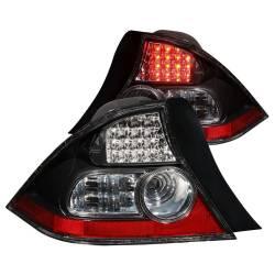 Anzo USA - Anzo USA 321035 Black LED Tail Light Set-Clear Lens - Image 1
