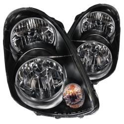 Anzo USA - Anzo USA 121172 Crystal Headlight Set-Black - Image 1