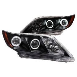 Anzo USA - Anzo USA 121181 Projector Headlight Set w/ CCFL Halo-Black - Image 1