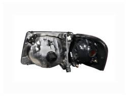Anzo USA - Anzo USA 111041 Crystal Headlight Set w/ Corners-Black - Image 2